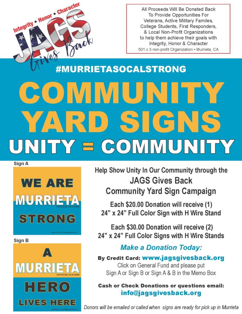 Community Yard Sign Flyer