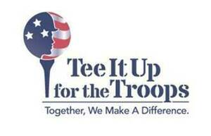 tee it up for the troops logo